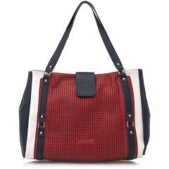 Red shoulder bag MariaMare LEONELA