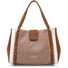 White shoulder bag MariaMare LEONELA
