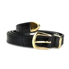 Black croco belt LY1256