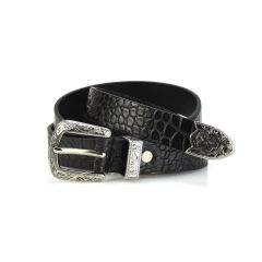 Black croco belt LY1288