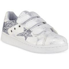 Λευκό παιδικό sneakers με ασημί  αστέρι M9109-1