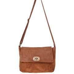 Leather maroon cross body bag MINIE