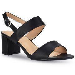 Black heel sandal N18-226