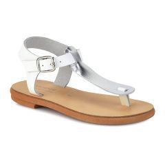 White leather junior sandal NN02-1