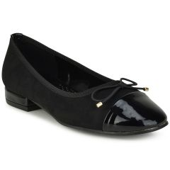 Black suede ballerina PH302
