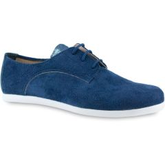 Blue suede oxford IzyShoes PS250