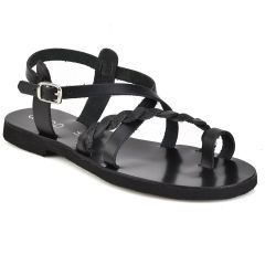 Leather black sandal QUOD QD30