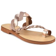 Copper leather glitter sandal QUOD QD77