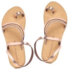 Copper leather sandal Beatrice R5