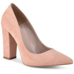 Pink suede pump R940S