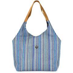 Μπλε τσάντα ώμου Lovely handmade RAFAELA