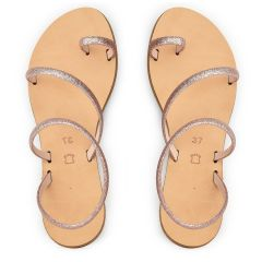 Leather nude sandal RD038