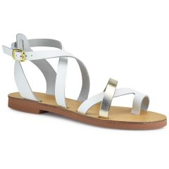 Leather white sandal RD137