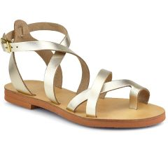 Leather gold sandal RD137