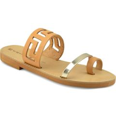 Natural pattern leather sandal Beatrice RΜ