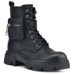 Black biker boot S9AX2972