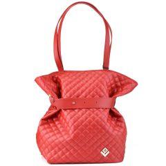 Κόκκινη καπιτονέ τσάντα πλάτης Lovely handmade Safari