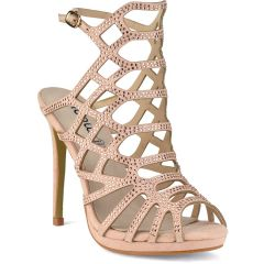 Nude high heel sandal with strass SG6889