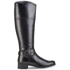 Leather black boot Bussola SONORA