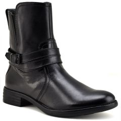 Leather black bootie Bussola TATUM