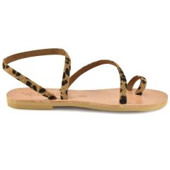 Δερμάτινο λεοπάρ σανδάλι Tsakiris Sandals TS101