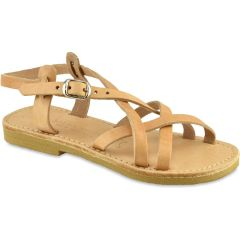 Natural junior leather sandal Tsakiris Sandals TSP154