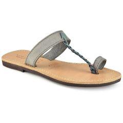 Δερμάτινη γκρί σαγιονάρα Tsakiris Sandals TS127