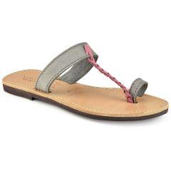 Δερμάτινη ροζ σαγιονάρα Tsakiris Sandals TS127