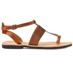 Leather tabac croco sandal Tsakiris Sandals TS608