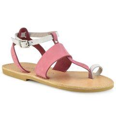 Δερμάτινο ροζ σανδάλι Tsakiris Sandals TS608