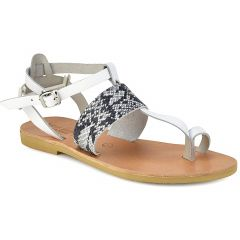 Leather white sandal Tsakiris Sandals TS608