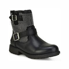 Black kids biker boot ZL206