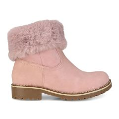 Pink kids bootie with fur ZL209