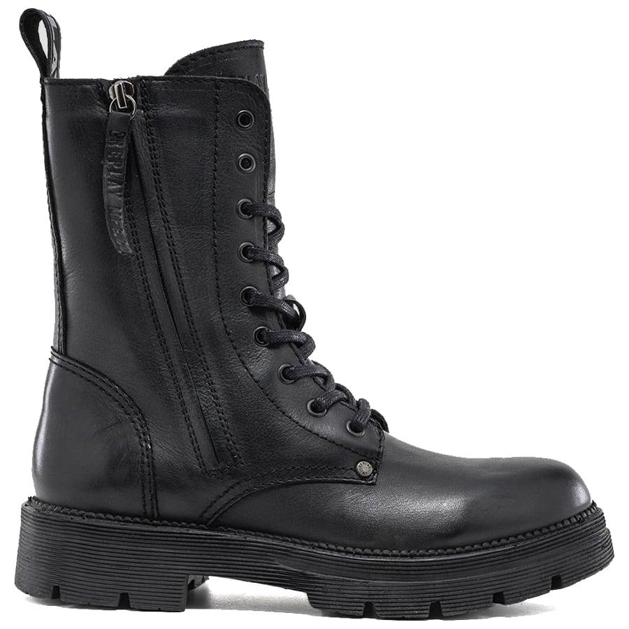 Μαύρο δερμάτινο biker boot REPLAY STANDING