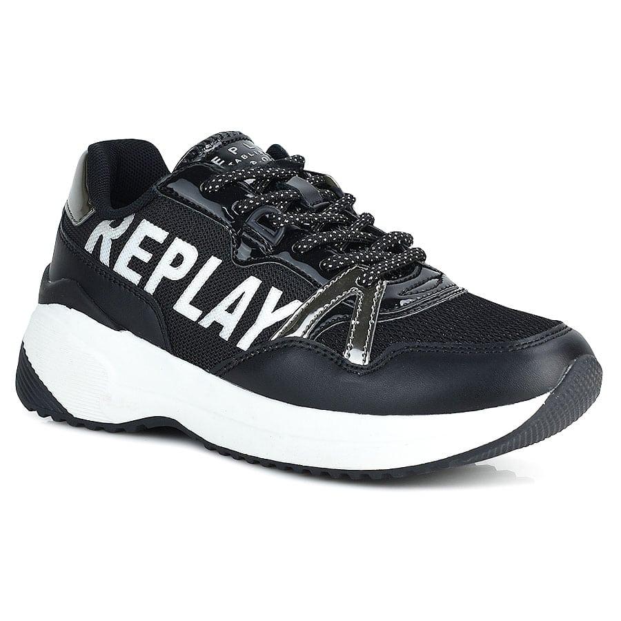 Μαύρο εφηβικό sneaker REPLAY SOLAR