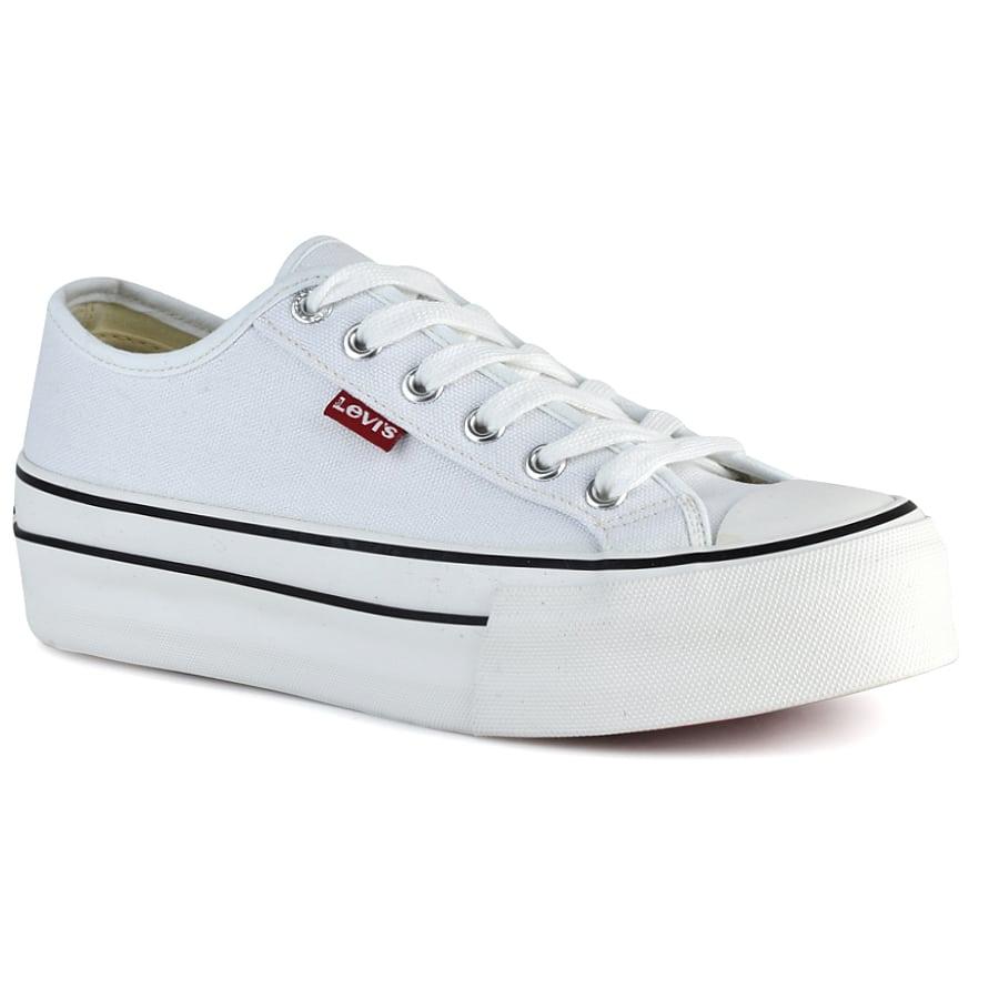 Λευκό εφηβικό sneaker Levi`s VBAL0005T