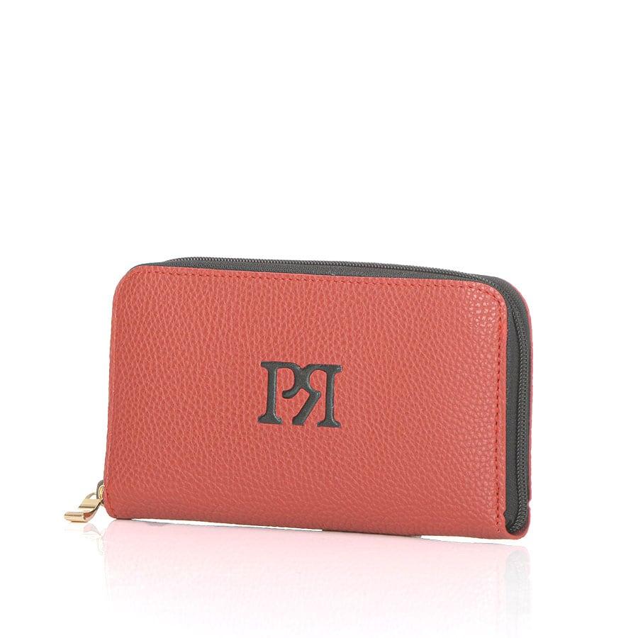 Κόκκινο eco-leather πορτοφόλι Pierro Accessories 00022