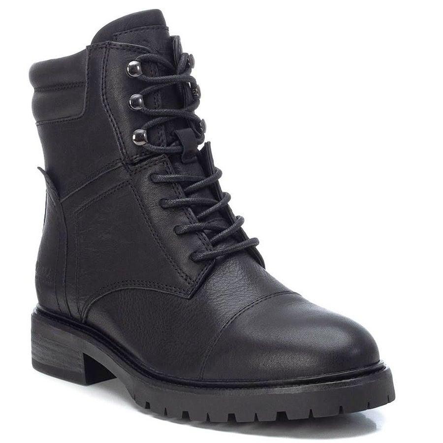 Δερμάτινο μαύρο biker boot Carmela 67413