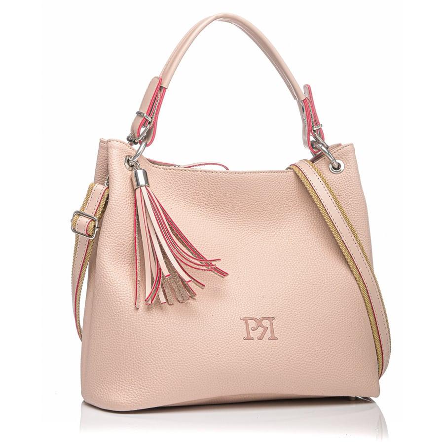Nude eco-leather τσάντα ώμου Pierro Accessories 90519