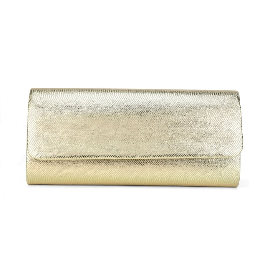 Χρυσό μεταλλικό τσαντάκι χειρός 5695-1