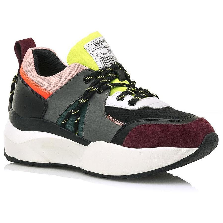 Δερμάτινο πολύχρωμο sneaker SIXTYSEVEN 30190