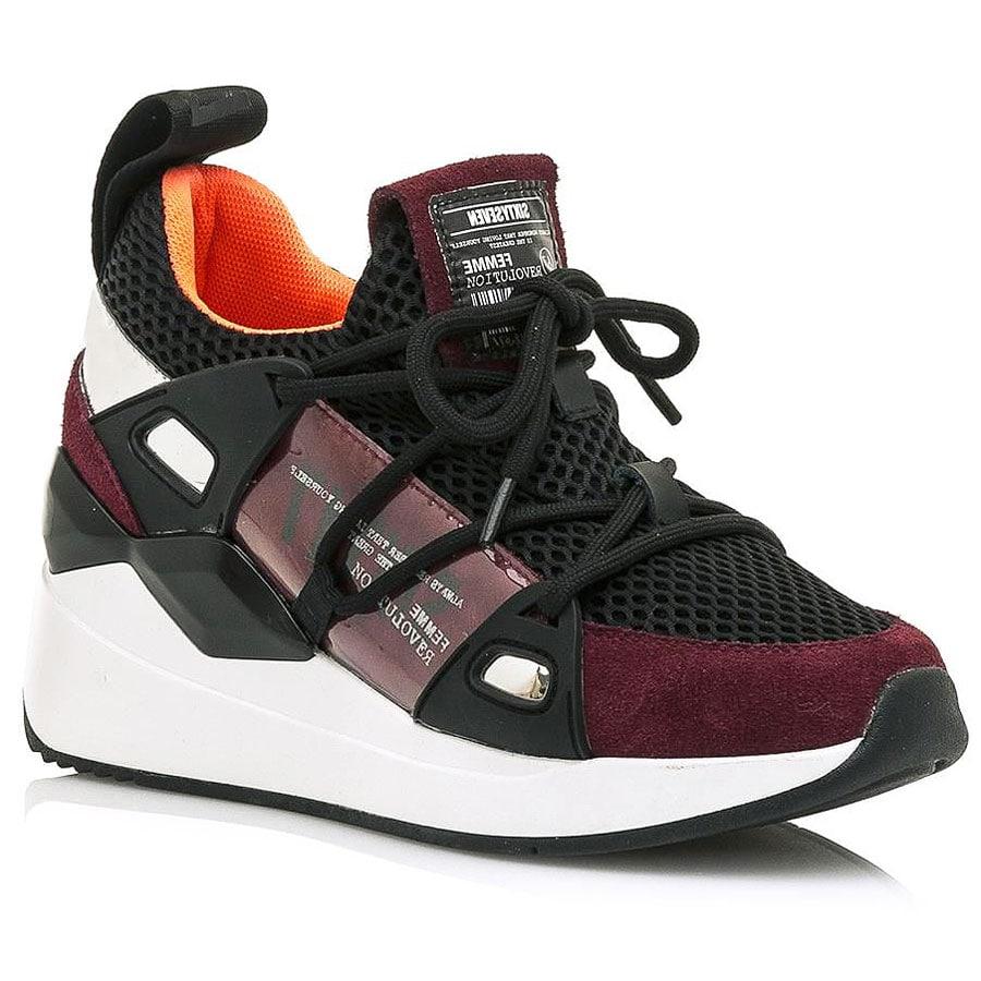 Δερμάτινο μπορντό sneaker SIXTYSEVEN 30301