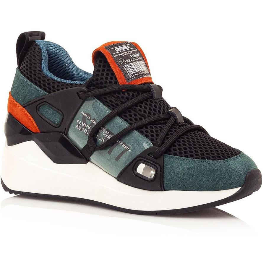 Δερμάτινο πράσινο sneaker SIXTYSEVEN 30301