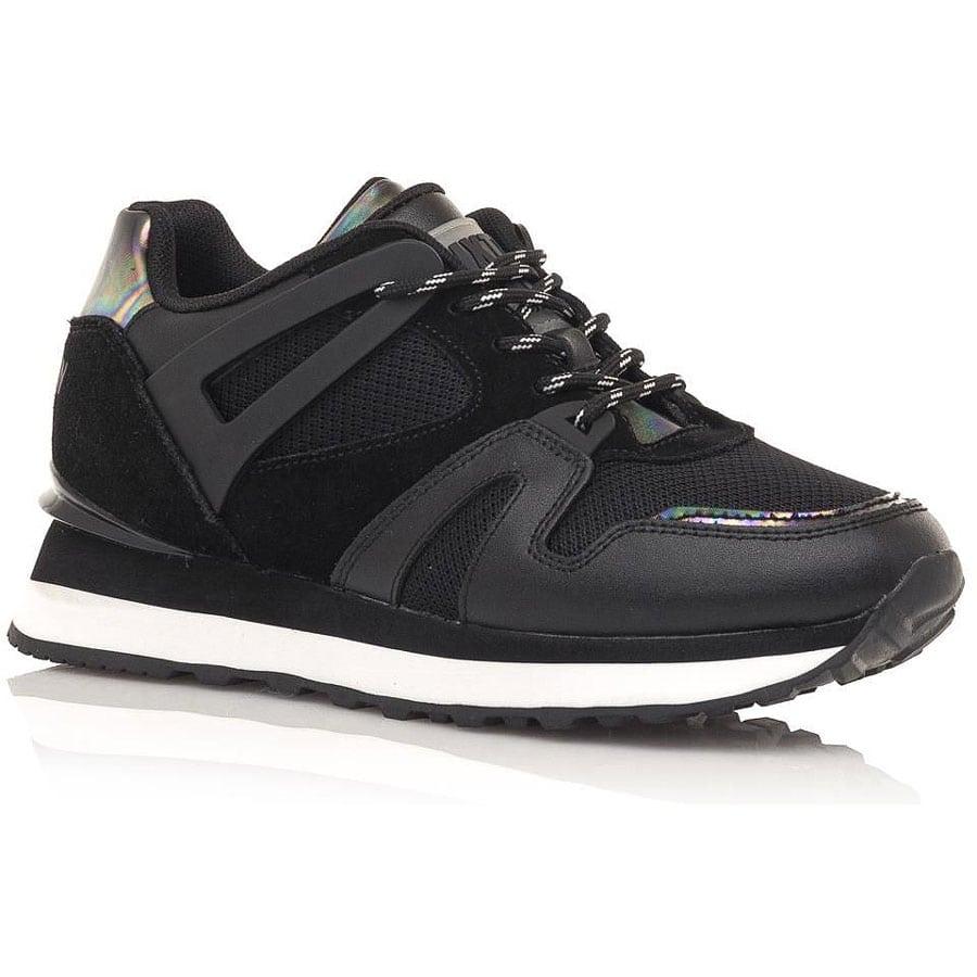 Δερμάτινο μαύρο sneaker SIXTYSEVEN 30491