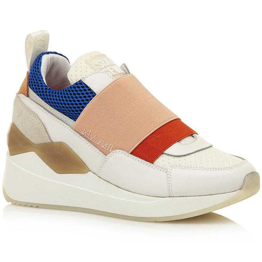 Δερμάτινο λευκό sneaker SIXTYSEVEN 30527