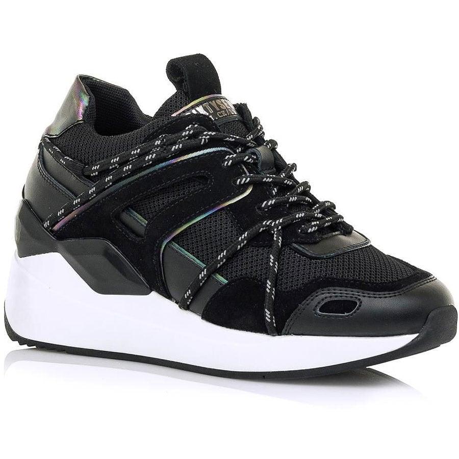 Δερμάτινο μαύρο sneaker SIXTYSEVEN 30734