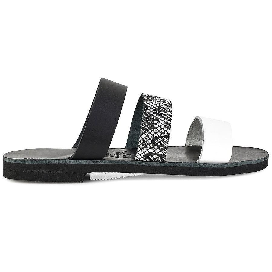 Δερμάτινη μαύρη σαγιονάρα Iris Sandals IR4/2