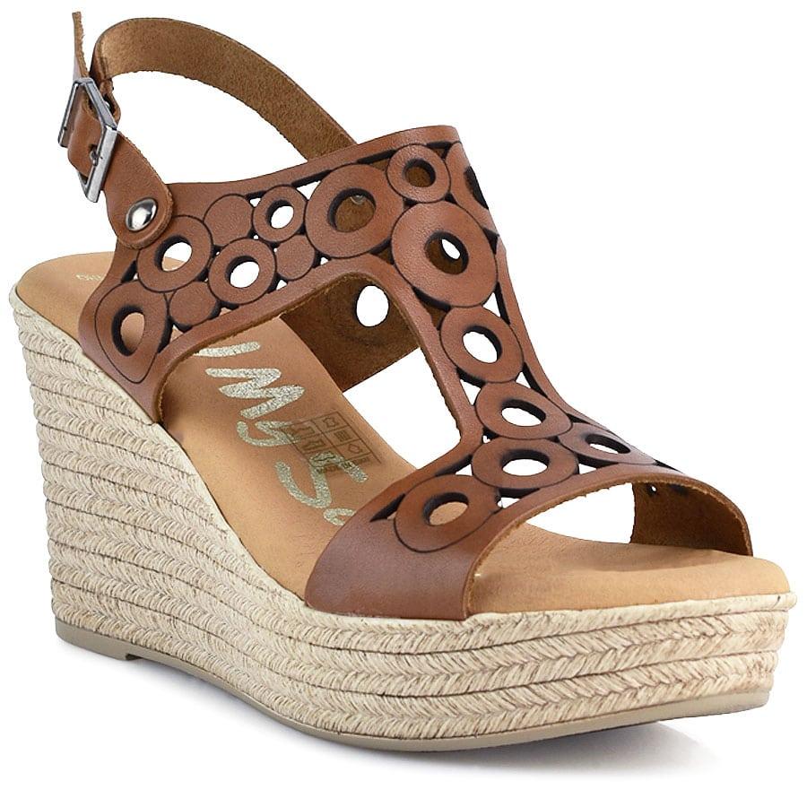 Δερμάτινη ταμπά πλατφόρμα Oh my Sandals 4597