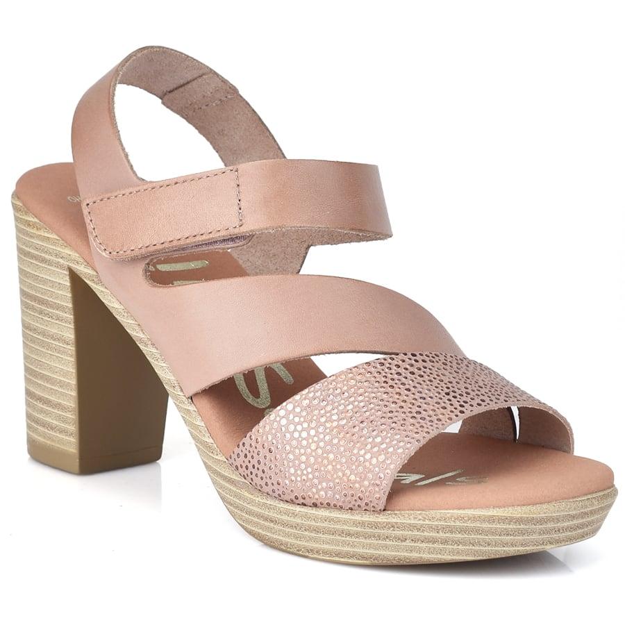 Δερμάτινο nude πέδιλο Oh my Sandals 4609