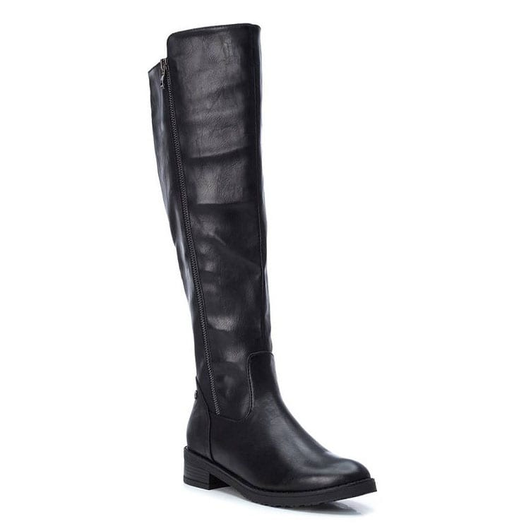Μαύρη μπότα ιππασίας Xti 49376
